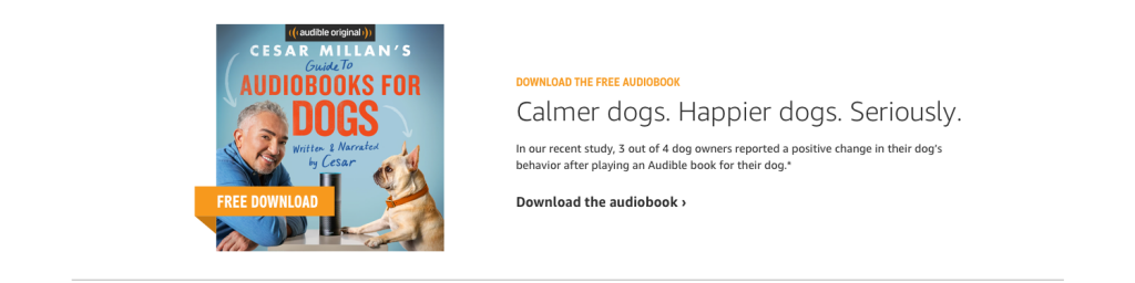 To audible or not to audible ? Des livres audio pour les chiens !